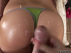Miley Ann keeps her panties on for a pop of spunk