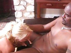 Dark dick lover Alexis Golden downs a massive dick