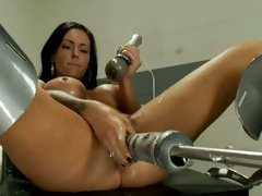 Jenna Presley is fucked stupid by a machine