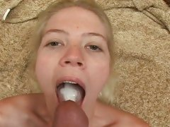Jayda Diamonde filled with cum in her mouth