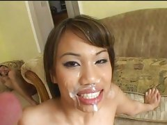 Lucy Thai like being busted on face with cum cream