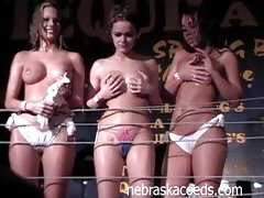 Tequila Frogs Contest where babes get naked