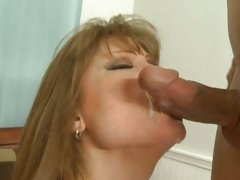 Cum loving milf Darla Crane gets a face full off cum