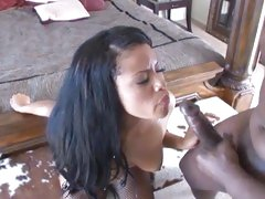 Lex Steele shoots his load in an ebony babe's face