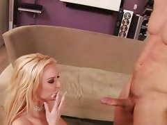 Victoria White getting fill on face with warm jit