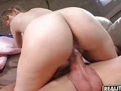 Missy Mae likes being on top as she rides thick cock until she cums
