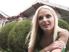 Faye Runaway hot blonde chick picked up by black dude
