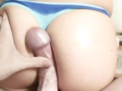 Sizzling Lexi Belle torments this prick in her thong