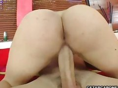 Sexy Rebecca Lane riding a big dick with her sexy tight pussy