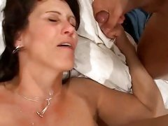 Raunchy milf loves getting drenched in warm nut juice