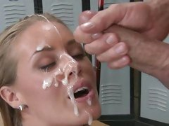 Nicole Aniston shower with cum load from hot dude