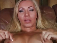 Blonde MILF Lisa Lee gets out her hot tits for you