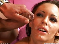 After satisfiying cock, Jenna Presley wants to eat some cream  for dessert