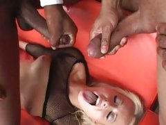 Melissa Lauren shower with cum by black basketball team
