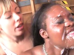 Brown Sugar happy getting filled with cum on face