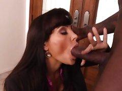 Hot MILF Lisa Ann takes on a big black cock