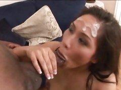 Thirsty Jessica Bangkok slurps down shots of dick milk
