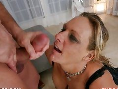 Hot ass whore Debi Diamond loves getting cummed on her gorgeous face.