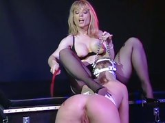 Sexy Nina Hartley spanks this dirty tarts round ass
