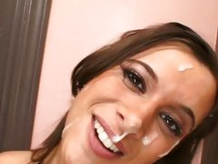 Tart Vanessa Lee gets covered with dick syrup