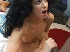India Summers hot babe wank off the hard cock