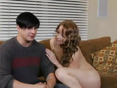 Naughty teen Alyssa Branch seduces this hot prick