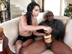 Sassy Lou Charmelle plays with this huge fuck stick