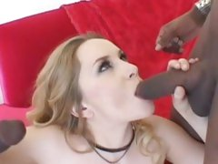 Succulent Aiden Starr love slurping on a stiff cock