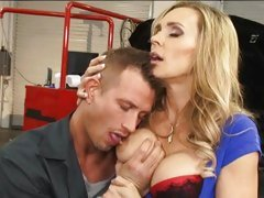Red hot Tanya Tate gets her massive tits sucked on