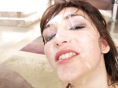 OMG! Holly Michaels drenched in dickjuice!