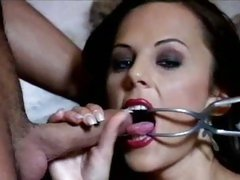 Sizzling babe sucks on this tasty fuck stick