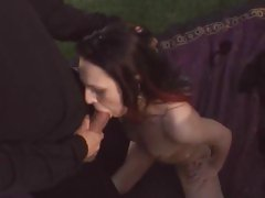 Luscious Victoria Sin gets a mouth full of hot cock