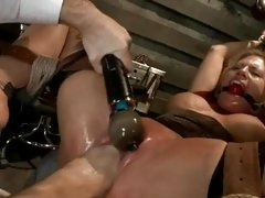Sassy Charisma Capelli gets fist fucked whilst bound