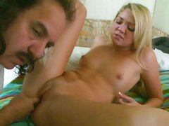 Jessie Andrews tight hot pussy munched on by Ron Jeremy