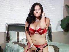 Seductive Jessica Bangkok looks super sexy in red