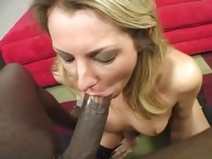 Voluptuous Joey Valentine slurps on a massive dick