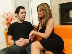 Red hot Kristal Summers seduces this hot hunk