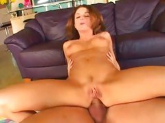 Anal lover Jackie Moore bounces her ass on a huge prick