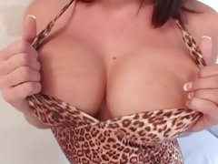 Sassy Tory Lane gets her juicy juggs out to play