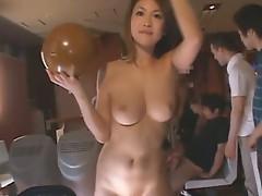 Ai Hanezawa and Runa Segaki are fucked in bowling