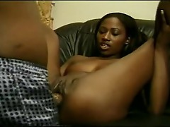 Impure floozy India pulls legs back getting Pink fuckhole rammed with biggest Rod