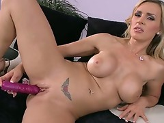 Sizzling nymoho TAnya Tate spoons her bawdy cleft out with a MBootyive Pink Toy