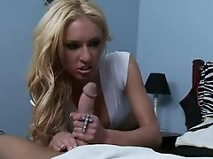 Lustful Blonde Victoria white fills her excellent Mouth with her boyfriend's shaft