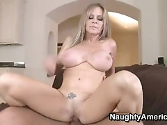 Sexy Blonde MomMa DyAnna Lauren slams her Moist vaGina on a throbbing penis