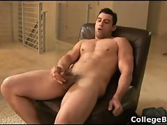 Nick Torretto wanking his fine cock