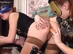 Marion and Sophia Anal lesbo actionion