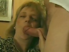 This sexy Blonde Milf lets 2 guys fuck that guyr unshaved snatch