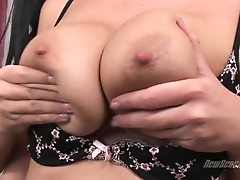 Busty ChrisTina Jolie gets her milk shakes tickled hot with her lover's tongue