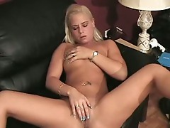Fiery babe wet pink pussy