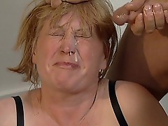 Insane old Lady is drilled and cummed